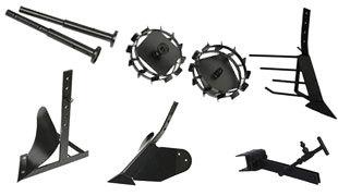 Комплект насадок для FJ500 (грунтозацепы, удлинитель, плуг, картофелевыкапыватель, окучник, сцепка) в Боре